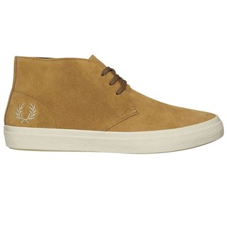 Fred Perry Brown Sugar Portwood Suede Shoes