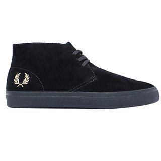 Fred Perry Black Portwood Suede Shoes