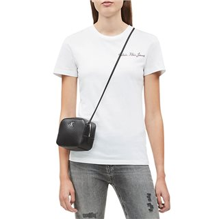 Calvin Klein Bright White Slim Embroidered T-Shirt