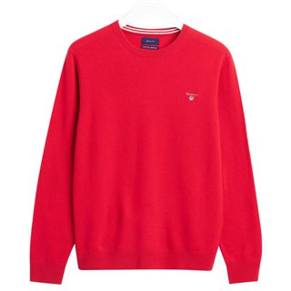 Gant Red Super Fine Lambswool Crew Neck Sweater