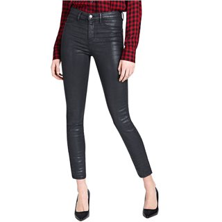 Guess Black Coated-Look Skinny Jeans