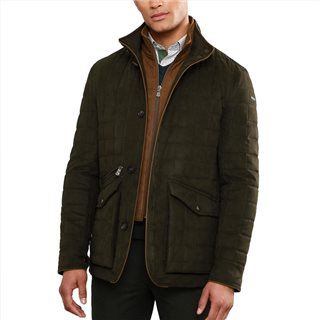 Magee 1866 Olive Glenveigh Quilted Classic Fit Jacket