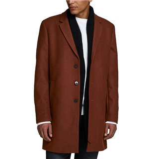 Jack And Jones Brown Wool Coat