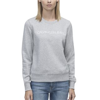 Calvin Klein Light Grey Institutional Core Crew Neck Sweatshirt
