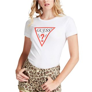 Guess White Triangle Logo T-Shirt