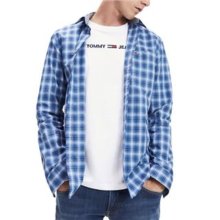 Tommy Jeans Dutch Blue Essential Cotton Check Shirt