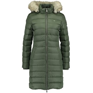 Tommy Jeans Kombu Green Essential Hooded Down Coat