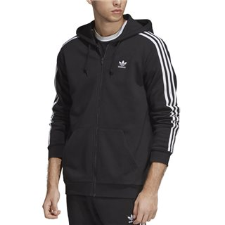 adidas Originals Black 3-Stripes Hoodie