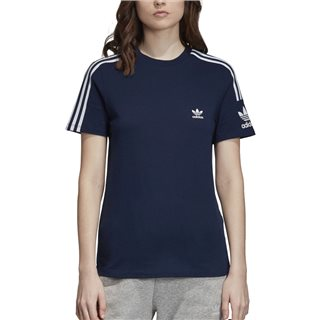 adidas Originals Navy 3-Stripes Lock Up T-Shirt