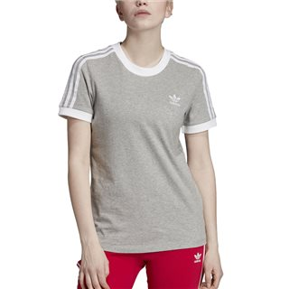 adidas Originals Medium Grey 3-Stripes T-Shirt