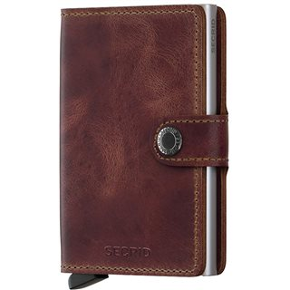 Secrid Vintage Brown Leather Mini Wallet