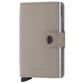 Secrid Taupe Camo Crisple Leather Mini Wallet