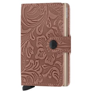 Secrid Rose Ornament Leather Mini Wallet