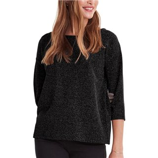 ICHI Black Glitter Blouse