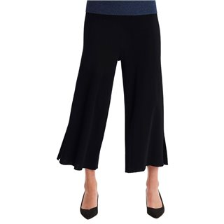ICHI Black Flared Trousers
