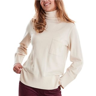 ICHI Tapioca White Roll Neck Knitted Pullover