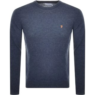 Farah Tar Rosecroft Lambswool Crew Neck Jumper