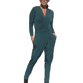 Libby Loves Forest Green Delilah Jumpsuit