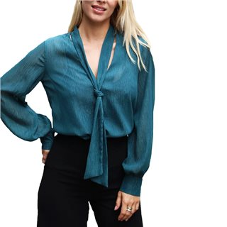 Libby Loves Forest Green Lola Blouse