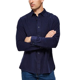 Selected Homme Maritime Blue Corduroy Shirt