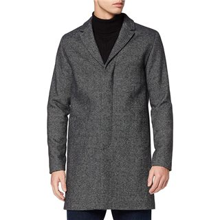 Selected Homme Grey Melange Wool Coat