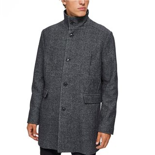 Selected Homme Grey Beluga Wool Coat