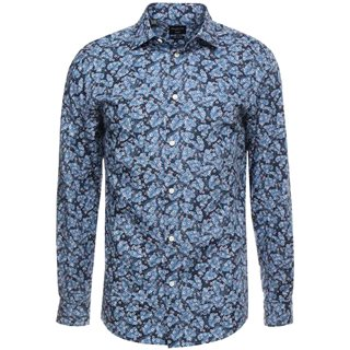 Selected Homme Federal Blue Slim Pen Floral Shirt