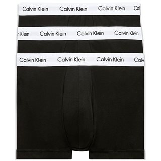 Calvin Klein Black 3-Pack Low Rise Trunks