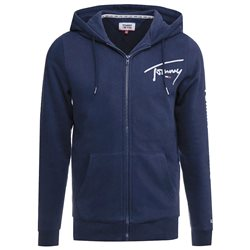 Tommy Jeans Black Iris Script Zip Through Hoodie