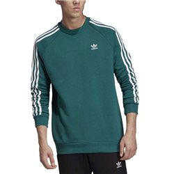 adidas Originals Green 3-Stripes Crew Neck Sweatshirt