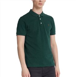 Farah Bright Emerald Marl Blanes Slim Fit Polo Shirt