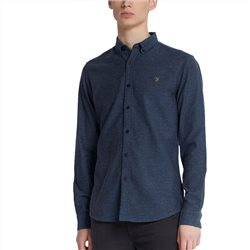 Farah Cold Metal Kreo Slim Fit Brushed Cotton Shirt