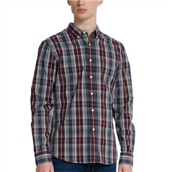 Farah Tar Brewer Slim Fit Tartan Oxford Shirt