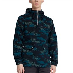 Farah True Navy David Camouflage Print Overhead Jacket