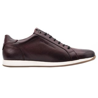 Base London Brown Flare Grain Leather Trainers