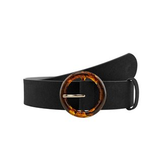 Pieces Black Horn Look Buckle Waist Belt