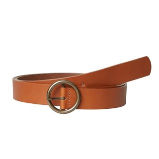 Pieces Cognac Juna Leather Belt