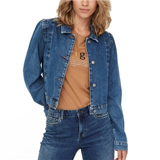 Vero Moda Medium Blue Denim Una Short Jacket