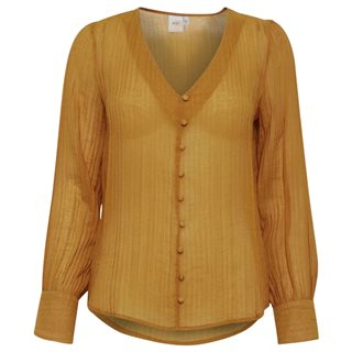 ICHI Buckthorn Kimana Stripe Button Blouse