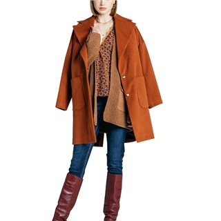 Fly Girl Tobacco Brown Collared Jacket
