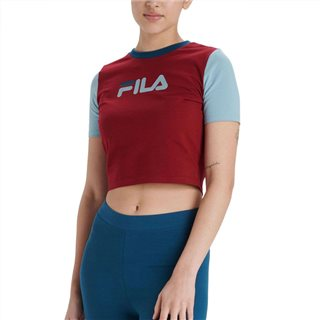 Fila Biking Red Anna Fitted Crop T-Shirt