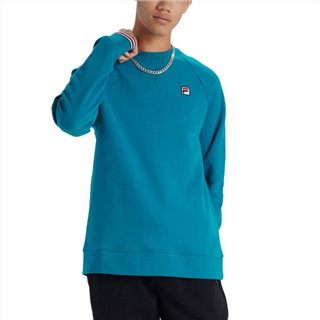 Fila Harbour Blue Pozzi Tipped Crew Neck Fleece