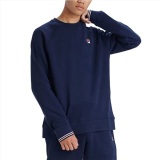 Fila Navy Pozzi Tipped Crew Neck Fleece