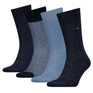Tommy Accessories Dark Navy 4 Pack Mixed Dot Print Socks