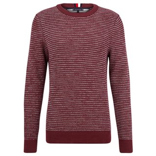 Tommy Hilfiger Tawny Port Honeycomb Sweater