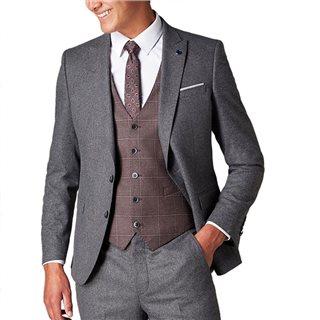 Remus Uomo Grey Slim Fit 2 Piece Suit