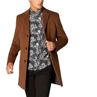 Remus Uomo Brown Rueben Tailored Overcoat