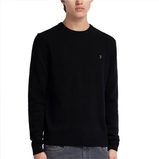Farah Black Rosecroft Lambswool Jumper