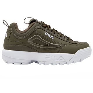 Fila Dusty Olive Disruptor II 3D Embroidery Trainers