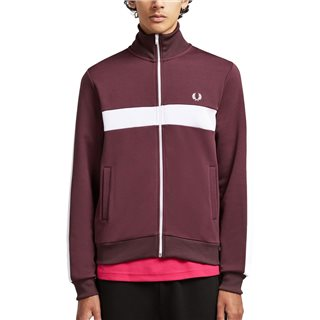 Fred Perry Mahogany Chest Panel Track Jacket